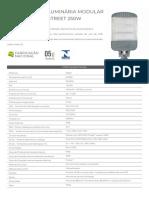 DATASHEET STREET MODULAR - 250W - INMETRO
