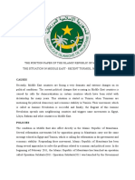 THE POSITION PAPER OF THE ISLAMIC REPUBLIC OF MAURITANIA