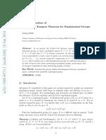 A Genera¸lization of Seifert-Van Kampen Theore¸m for Fundamental Groups, by Linfan Mao