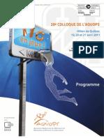 Programme AQUOPS 2011