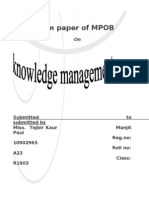 knowledge management Term Paper