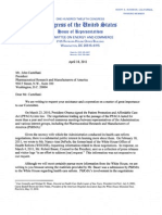 Congressional Letter to the Pharmaceutical Research and Manufacturers of America
