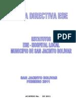 ESTATUTOS ESE SAN JACINTO BOLIVAR