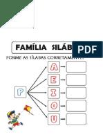 familia silabica  P