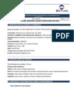 FISPQ Sabonete Liquido Natural Domus