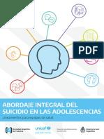 Abordaje Integral Del Suicidio en La Adolescencia