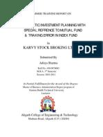 Summer Internship project on SIP & Mutual Fund