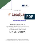 Modello integrato per la personalizzazione dell'apprendimento nell'Educazione degli Adulti - LINEE GUIDA