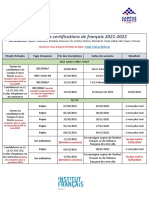 Calendrier Des Certifications 21-22