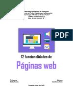 Funcionalidades Pagina Web Estefania Celis