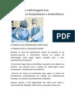 Cuidados de Enfermagem Nos Atendimentos Hospitalares e Domiciliares.