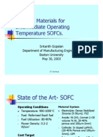 Cathode materials for ITSOFC