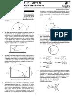 ITA - F1 - Lista 12 - Dinâmica impulsiva VI