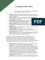 Definición y conceptos clave sobre calidad