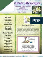 April 19 Newsletter