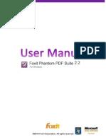 FoxitPhantom22 Manual