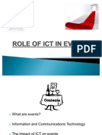ROLE OF ICT IN EVENTS