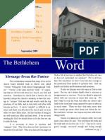 The Bethlehem Word - September
