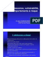 Diaporama Cours Pr Charles Nicolas Adolescence Vulnerabilite Comportements a Risques UE7A