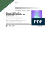 Stats Canada-Allen & Vaillancourt, 2004-Class of 2000, Profile of Post Secondary Graduates