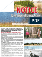 Notice to the Citizens of Kanabec County