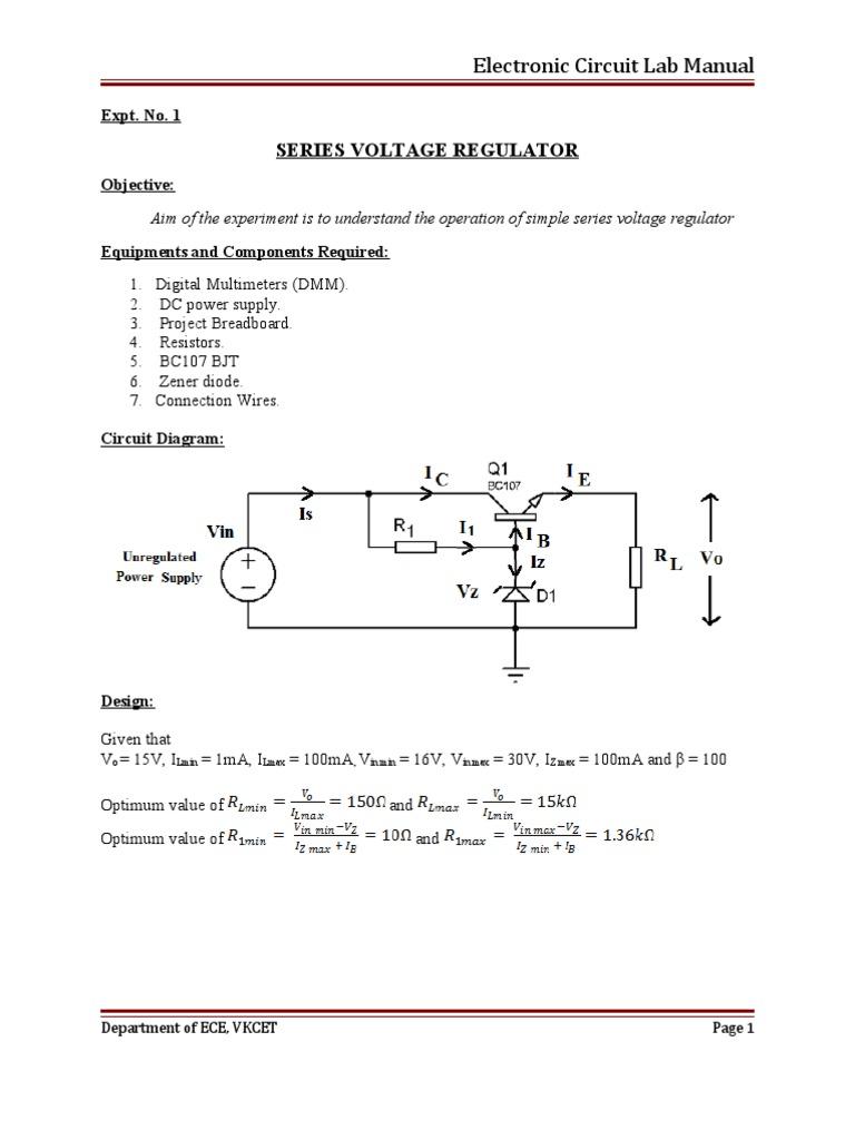 Ec Lab Manual 08407 Amplifier Electronic Oscillator Current Negative Feedback Voltage Divider Biasing Circuit Diagram
