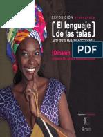 Catálogo de la exposición 'El lenguaje de las Telas'