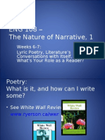 Lyric Poetry Slides