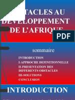 Obstacles Au Developpent de l'Afrique