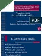 Aspectos eticos del conocimiento medico