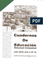 Cuadernos de Educación 2010 SEP-NOV (año4) nº14