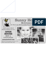 Open House Flyer, May 2011