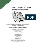Texas Municipal League e-mail guide for city officials
