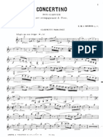 concertino for clarinet