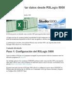 Cómo importar datos desde RSLogix 5000 a Excel