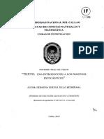 Una Introducción a Los Procesos Estocásticos-herminia Bertha Tello Bedriñana
