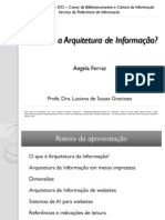 Apresentação Arquitetura da Informação