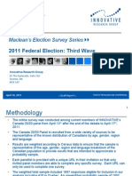 ROG 12 W3 2011 Federal Election April 18th Release