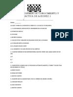 Primer Examen de Conocimiento y Practica de Ajedrez 1 Dif.