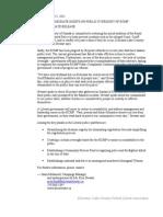 2011 04 05 MEDIA RELEASE Civilian Oversight of RCMP Needed