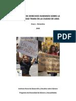 Informe Anual de Derechos Humanos de la Comunidad Trans 2010