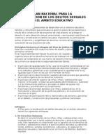 Resumen Plan Erradicacion Delitos Sexuales