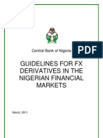 MARCH2011-Guidelines for Foreign Exchange Derivatives in the Nigerian Financial Markets