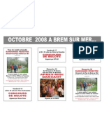 Animations d'octobre 2008 à Brem sur mr France
