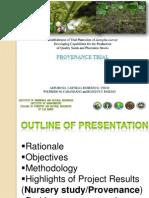 Establishment of  trial plantation of Jatropha curcas