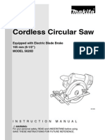 5620D - battery circular saw manual