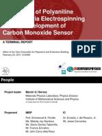 Fabrication of polyaniline nanofiber via electrospinning for the development of carbon monoxide sensor
