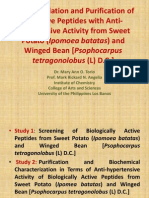 Survey, isolation and purification of bioactive peptides with antihypertensive activity from sweet potato (Ipomoea batatas) and winged bean [Psophocarpus tetragonolobus (L) D.C.]