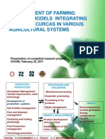 Development of farming systems models integrating Jatropha curcas in various agricultural systems