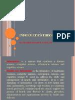Nursing Informatics Theories